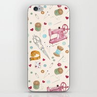 sewing iPhone & iPod Skins featuring Sewing by Epoque Graphics