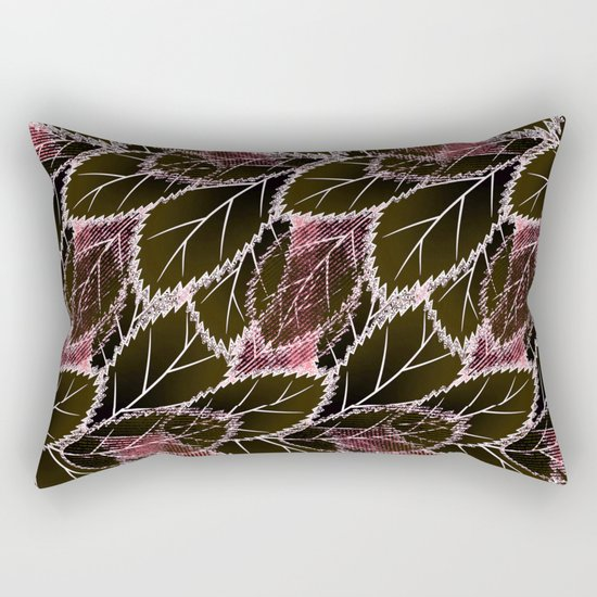 Bright leaves on a black background. Rectangular Pillow