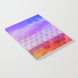 Ultra Surreal Countryside Violet Rainbow Notebook