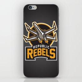 Republic Rebels - Black iPhone Skin