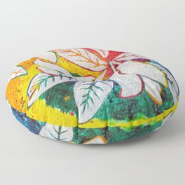 Leaves on the World Tree: Bengali Mango Floor Pillow