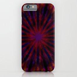 Dark tie dye iPhone Case