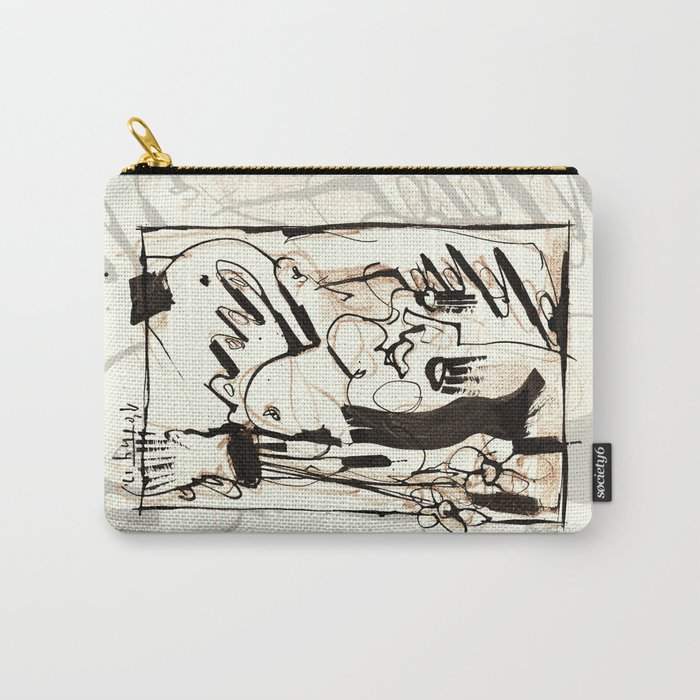 Old Flowers Carry-All Pouch