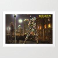 iron maiden Art Prints featuring Iron Maiden by Rassva