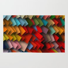 colorful rectangles with shadows Rug