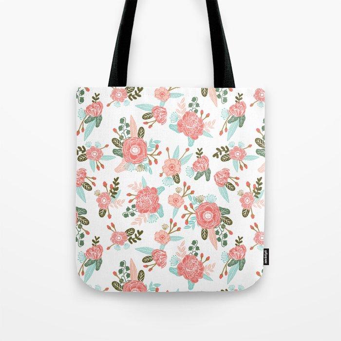 Trendy florals abstract painting gender neutral spring summer gardener gardening garden flowers Tote Bag