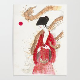 Geisha and tentacles (involvement) Poster