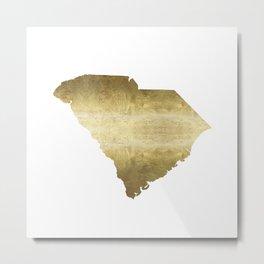 south carolina gold foil state map Metal Print