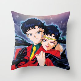 Seiya VS Sailor Starfighter Throw Pillow