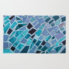 Crashing Waves Mosaic Rug
