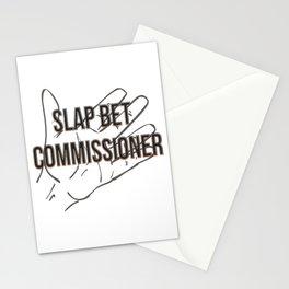 Slap bet commissioner Stationery Cards