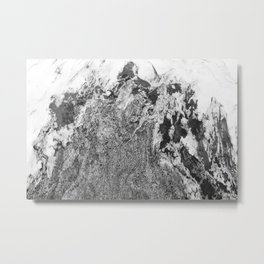 Marble Mountain Black and White I Metal Print