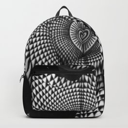 0622-JAL Heart Shape Pattern on Breasts and Nude Body Abstracted by Optical Patten Backpack