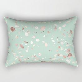 Minty Pink Rectangular Pillow
