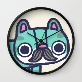 Mustachio Up Close Wall Clock