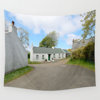 irish Wall Tapestries featuring Old Irish Cottage by Peaky40