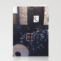 drums Stationery Cards featuring Drums by Tanya Bhargava