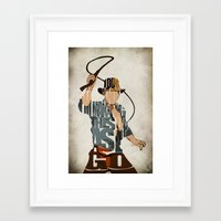 indie Framed Art Prints featuring Indie by Ayse Deniz