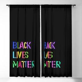 Black Lives Matter Colorful Stencil 1 Blackout Curtain
