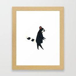 Racсoon Origami Framed Art Print