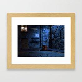 Blue Alley Framed Art Print