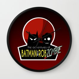 The Adventures of Bat man and Rob Zombie Wall Clock