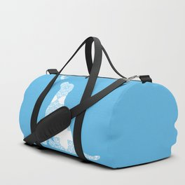 Labrador Retreiver Dog On Blue Colour Duffle Bag