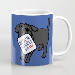 Cute Dog with Biden Harris Sign Coffee Mug
