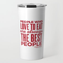 The Best People (Red) Travel Mug