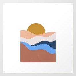 desert sunrise Art Print