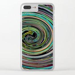 Hypnotic vortex Clear iPhone Case