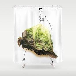 Edible Ensembles: Lettuce Shower Curtain
