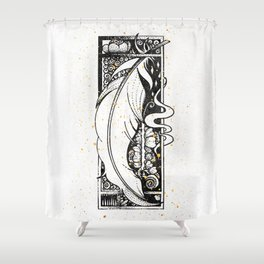 Wing Feather Inktober :: Bronzed Angels Barefoot Shower Curtain