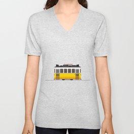 Lisbon 28 Tram Unisex V-Neck