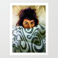 bed Art Prints featuring  Bed by Schmitty