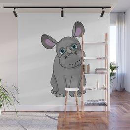 Rare Rhino Wall Mural