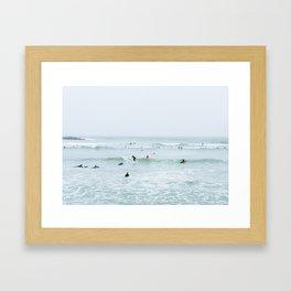 Tiny Surfers Lima, Peru 2 Framed Art Print