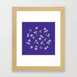 Clover Flowers on Purple Framed Art Print