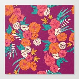 Jungle Pattern 005 Canvas Print
