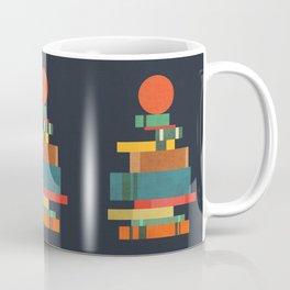 Book stack with a ball Coffee Mug