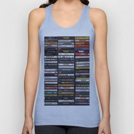 Old 80's & 90's Hip Hop Tapes Unisex Tanktop