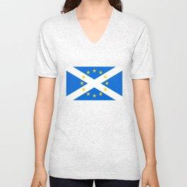 Scottish in EU Flag Unisex V-Neck