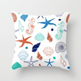 Just for the Shell of it Throw Pillow