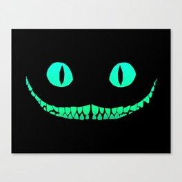 Cheshire black smile Canvas Print