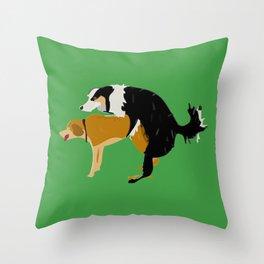 DOGS MATE SEX MAKE LOVE Throw Pillow
