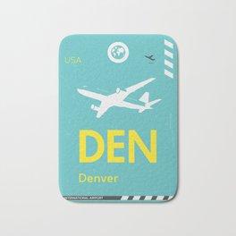 DEN Denver airport tag Bath Mat