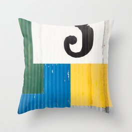 Iceland Abstract Throw Pillow
