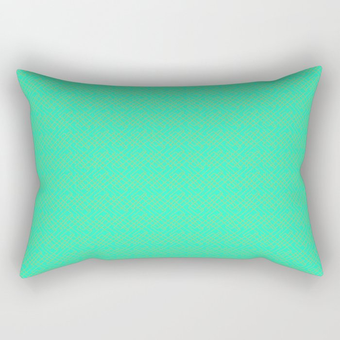 Copper Bars on Turquoise Mint Green Minimalist Modern Contemporary Design Pattern Rectangular Pillow