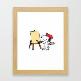 snoopy artist Framed Art Print