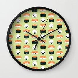 Salmon Dreams in wasabi, large Wall Clock